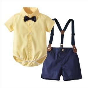 Other - Sunday Best Bow & Overall Set
